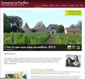 site de présentation d'un viticulteur