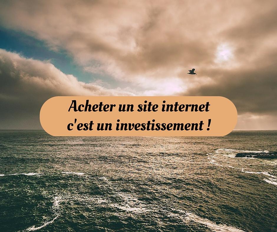 Pourquoi acheter un site internet est un investissement?