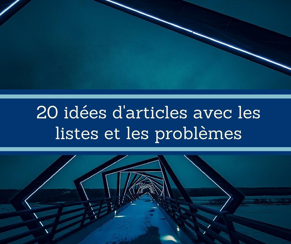 20 idées d'articles