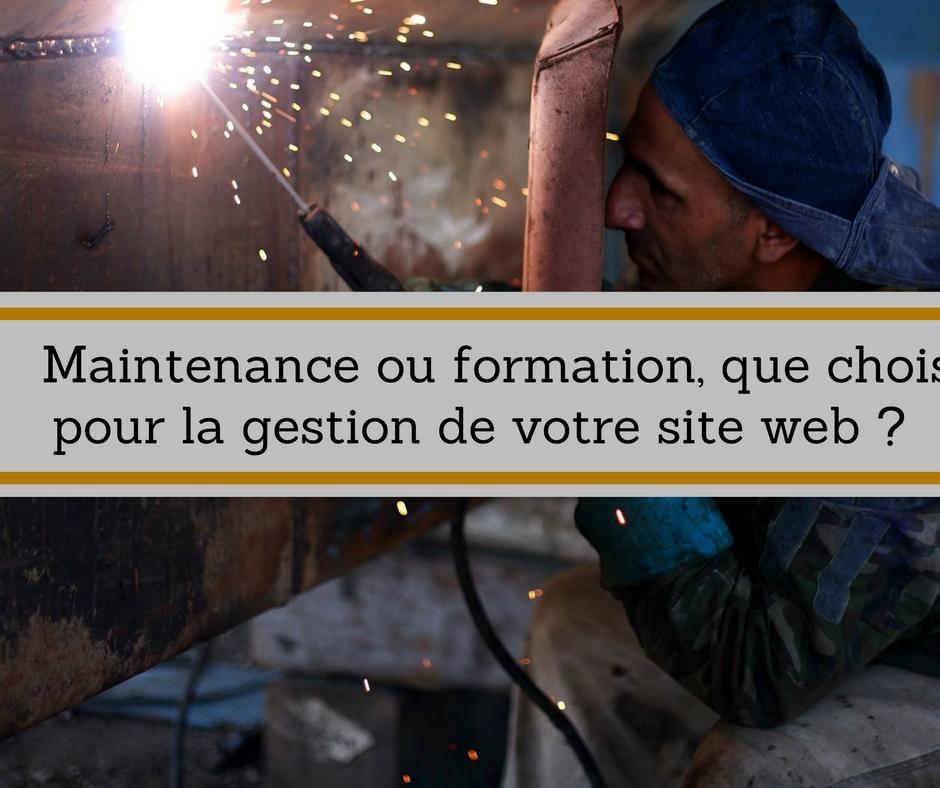 gestion de site web : maintenance ou formation ?