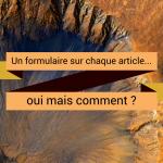 Un formulaire sur chaque article… comment ?